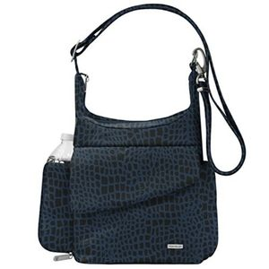 ISO Travelon Classic Messenger Bag Blue Leopard